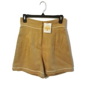 New! ANTHRO Plenty by Tracy Reese Linen Shorts